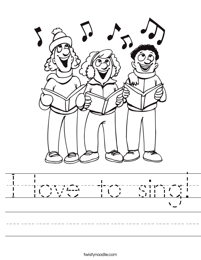 I love to sing! Worksheet