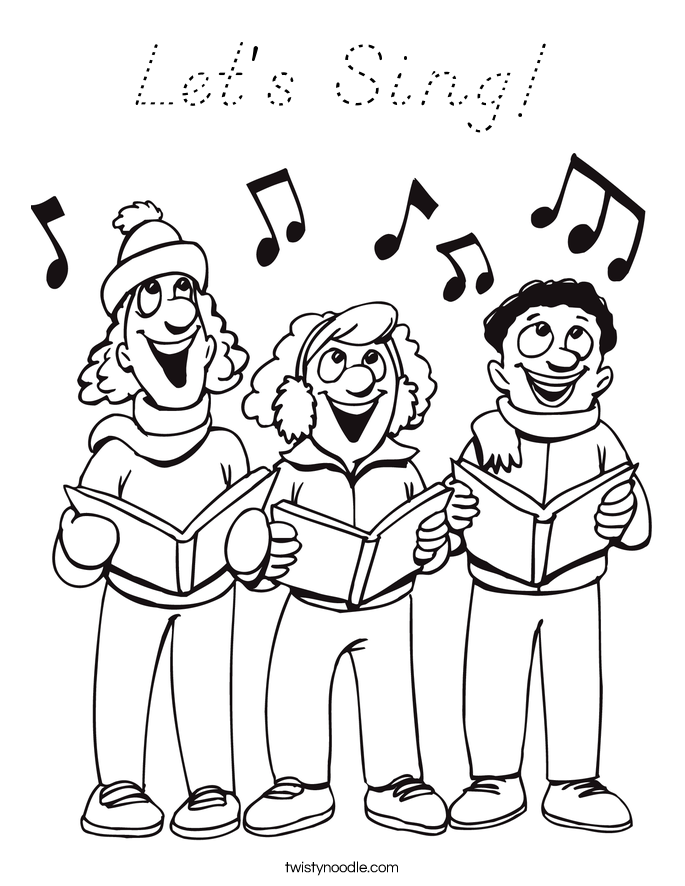 Let's Sing! Coloring Page
