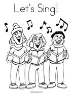 Let's Sing Coloring Page
