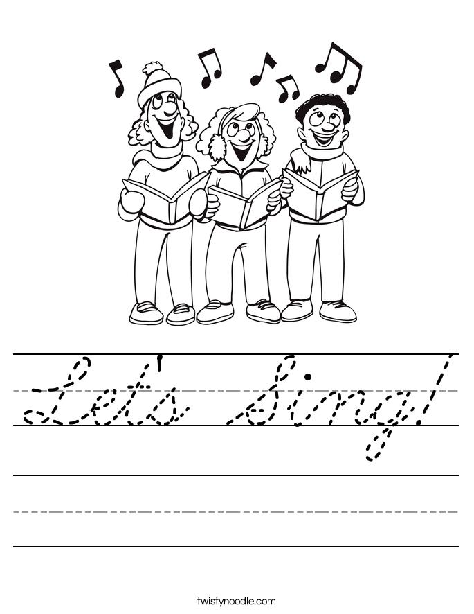 Let's Sing! Worksheet