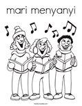 mari menyanyiColoring Page