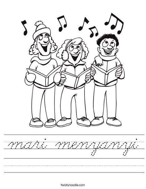 Singers Worksheet