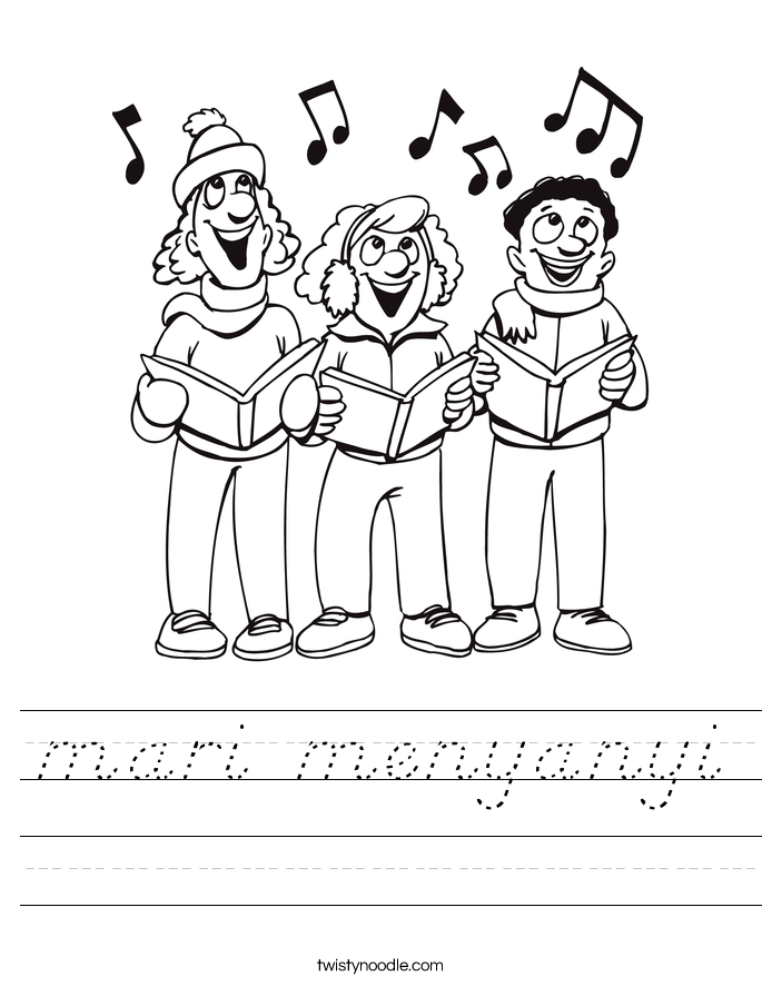 mari menyanyi Worksheet