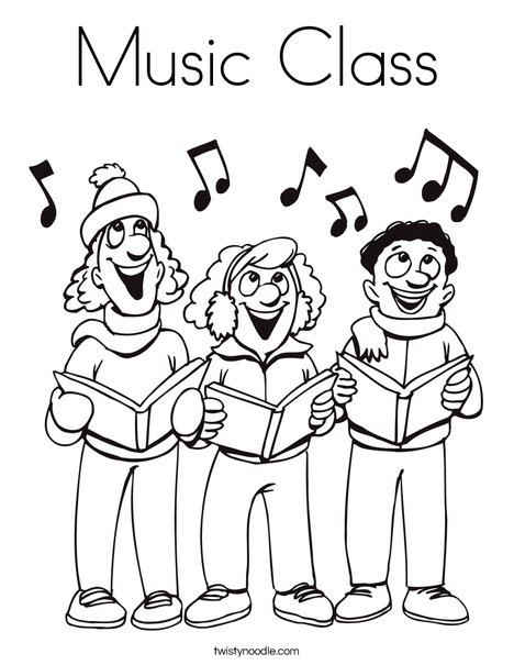Music Class Coloring Page - Twisty Noodle
