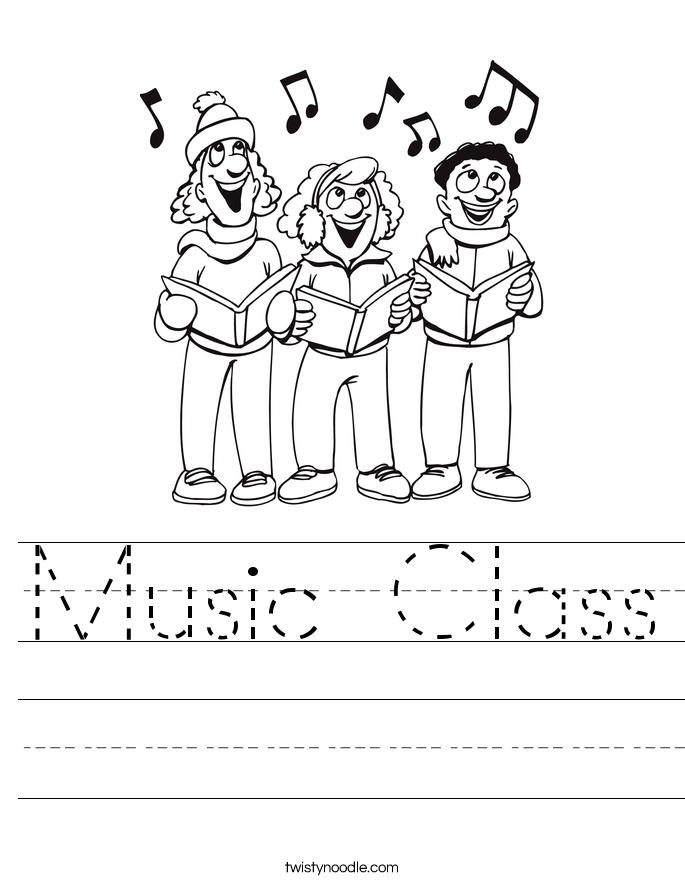 Music Class Worksheet
