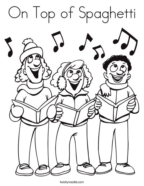 Singers Coloring Page