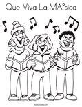 Que Viva La MúsicaColoring Page
