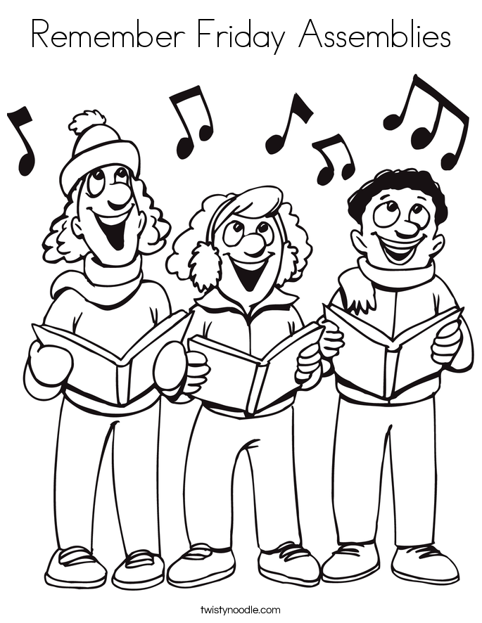 Remember Friday Assemblies Coloring Page