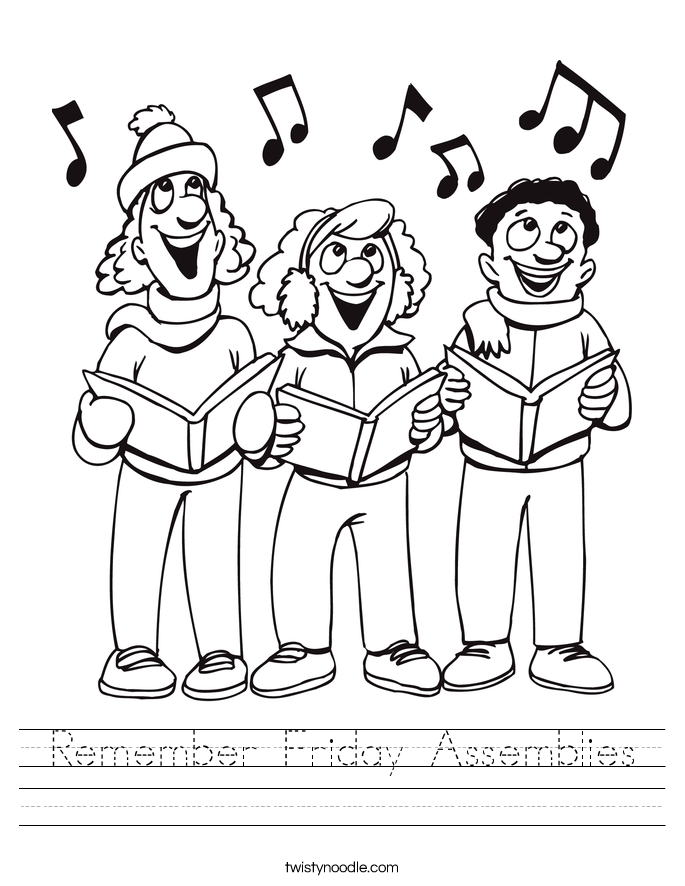Remember Friday Assemblies Worksheet
