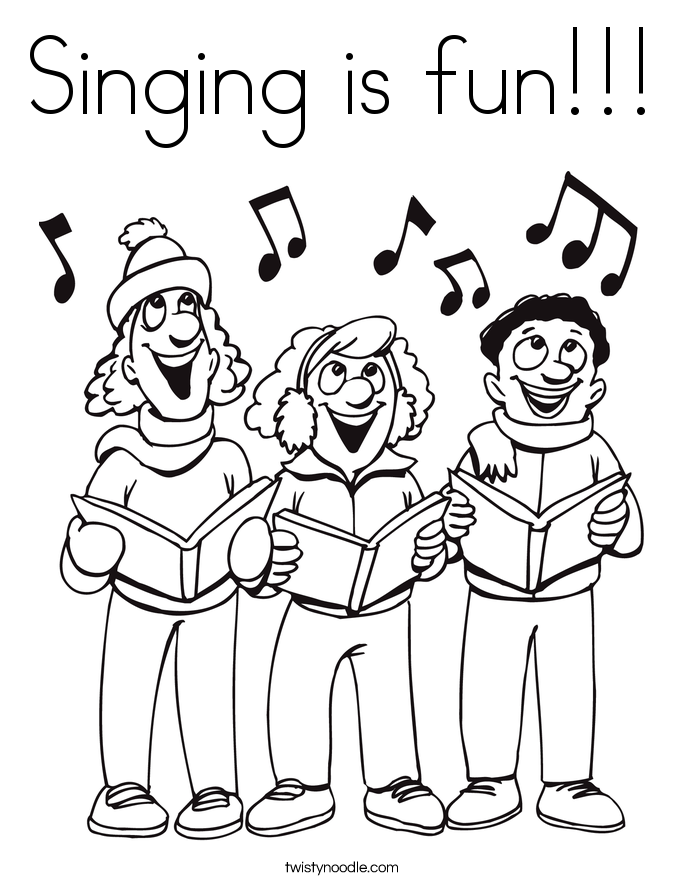 Singing is fun!!! Coloring Page
