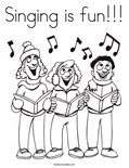 Singing is fun!!!Coloring Page