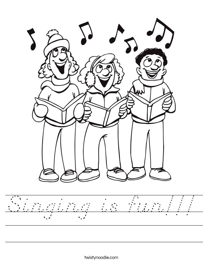 Singing is fun!!! Worksheet