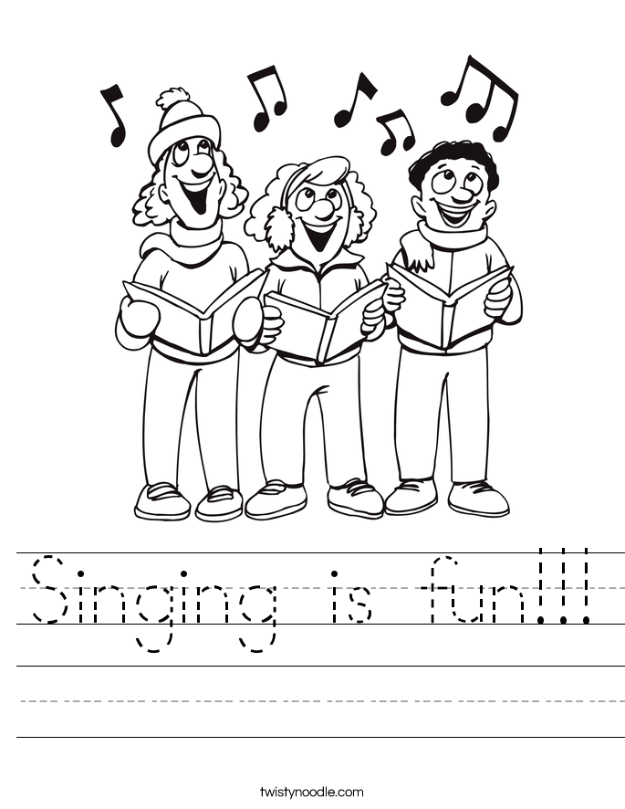 Singing is fun!!! Worksheet