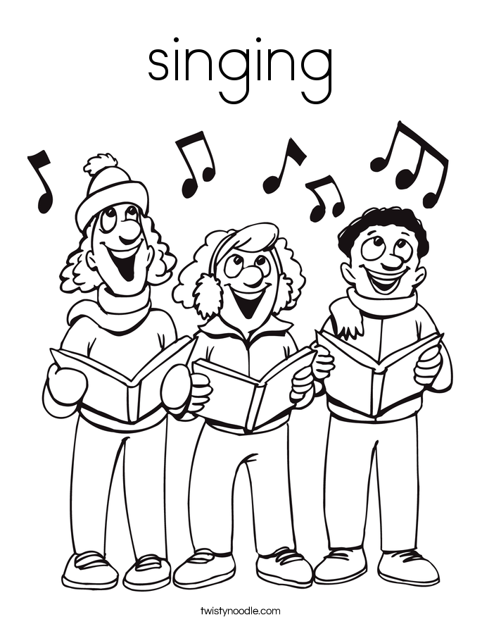 Singing Coloring Page Twisty Noodle