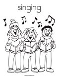 singingColoring Page