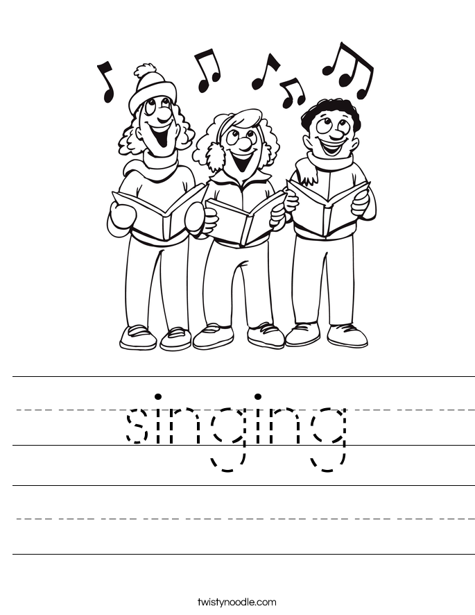 singing Worksheet - Twisty Noodle