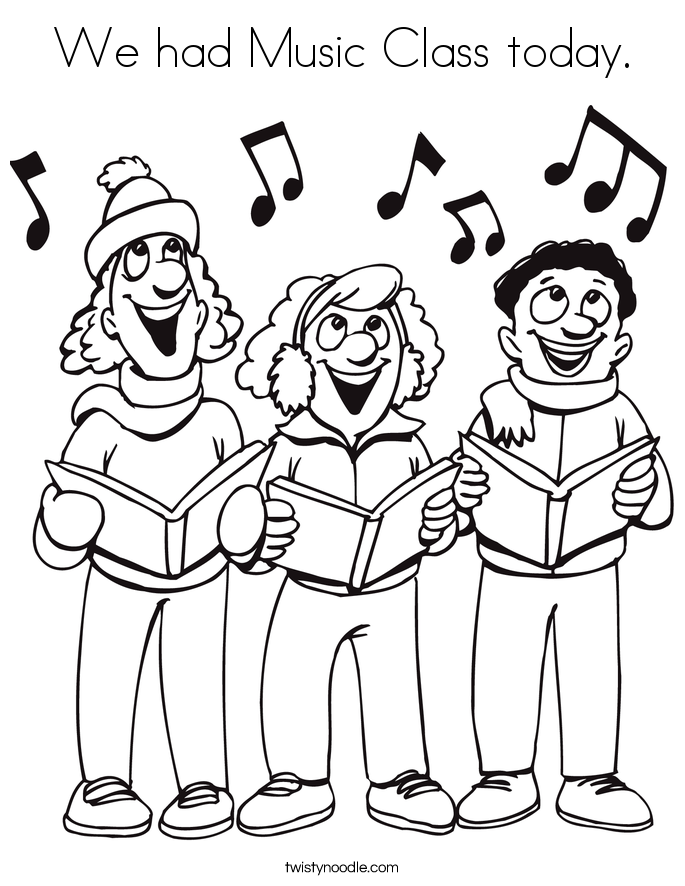 We had Music Class today. Coloring Page