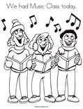 We had Music Class today.Coloring Page
