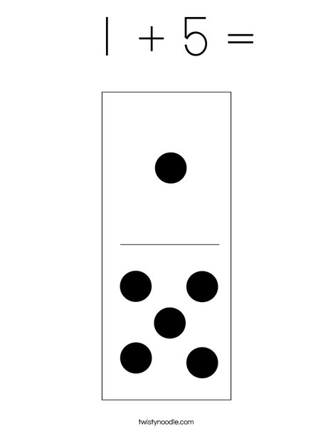 Domino Six Coloring Page