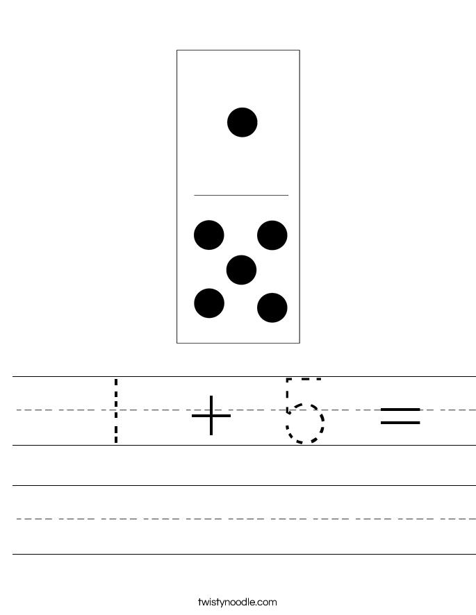 1 + 5 = Worksheet