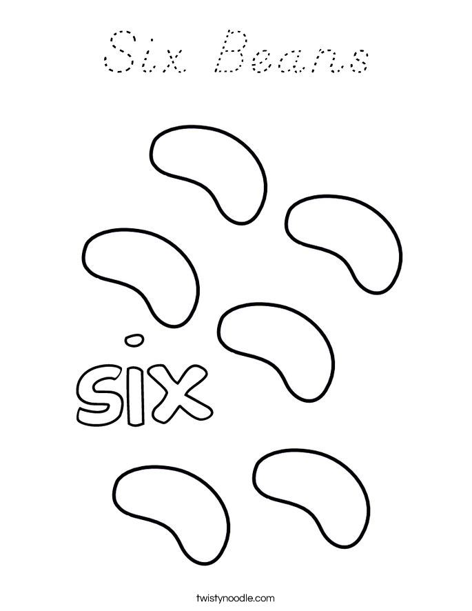 Six Beans Coloring Page