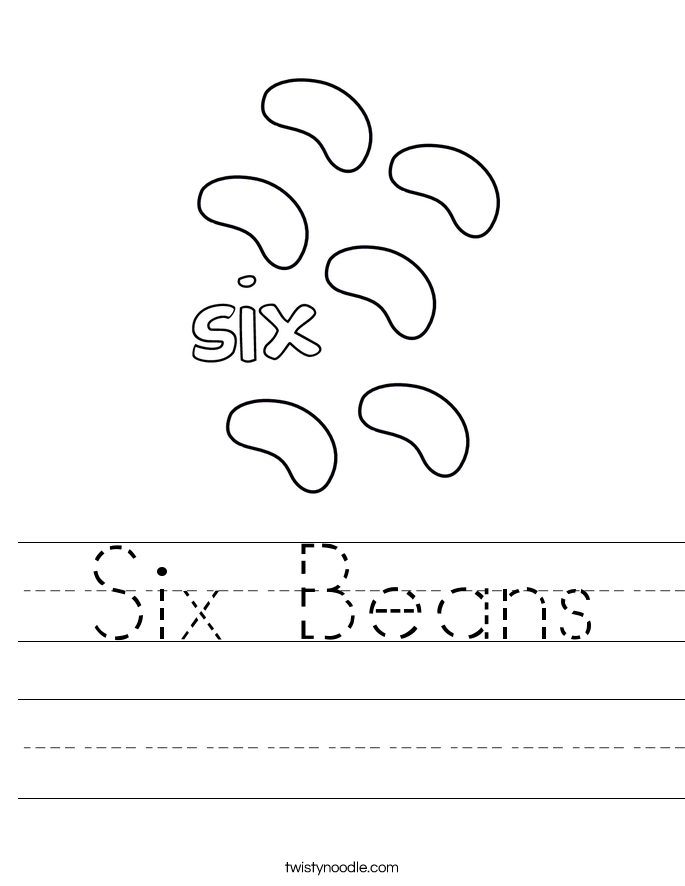 Six Beans Worksheet