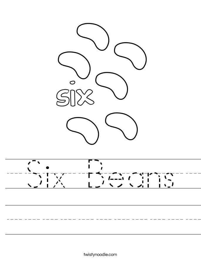 Six Beans Worksheet