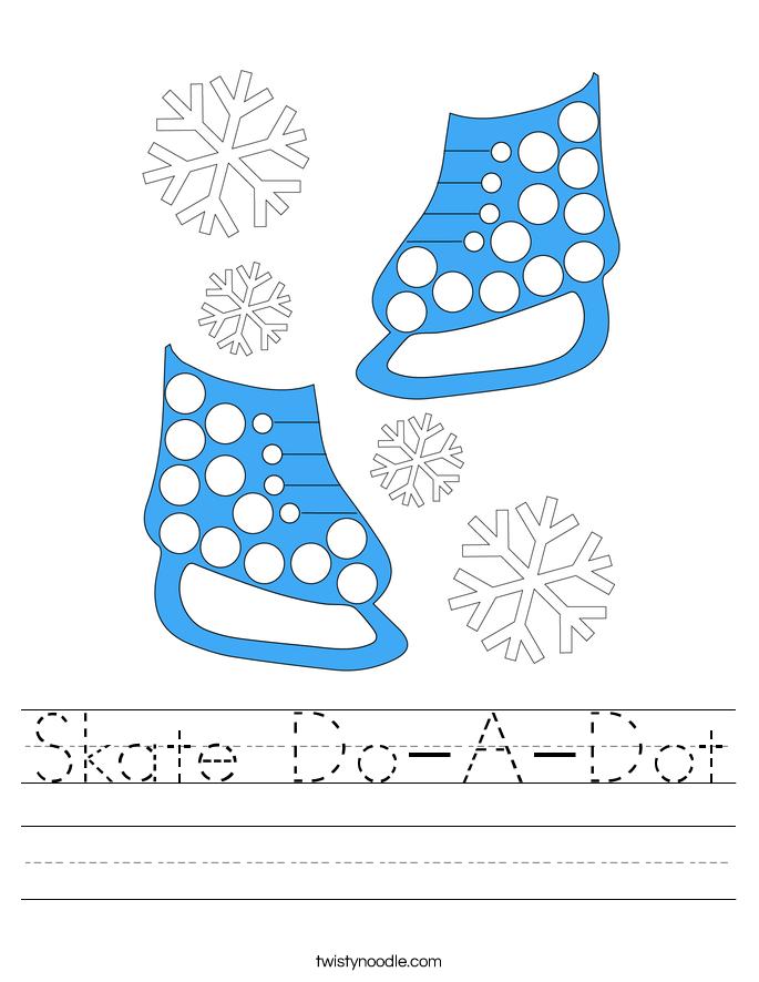 Skate Do-A-Dot Worksheet