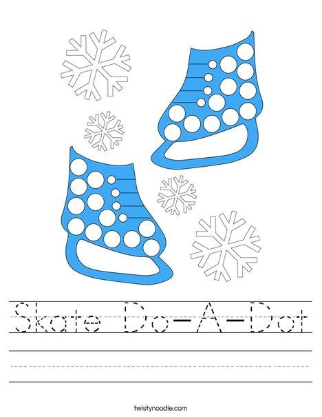 Skate Do- A- Dot Worksheet