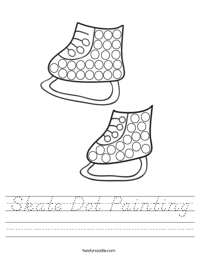 Skate Dot Painting Worksheet