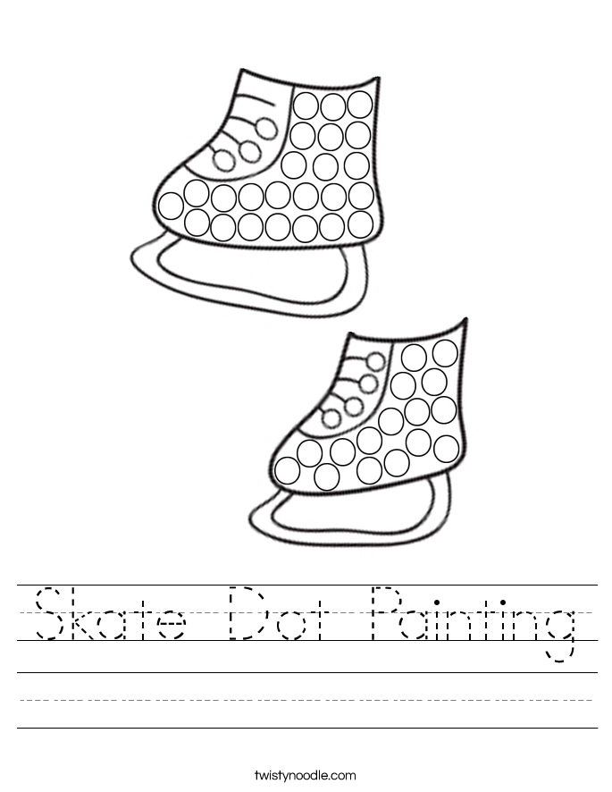 Skate Dot Painting Worksheet