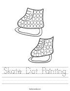Skate Dot Painting Handwriting Sheet