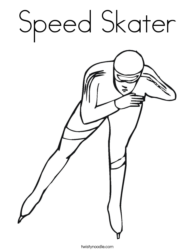 Speed Skater Coloring Page