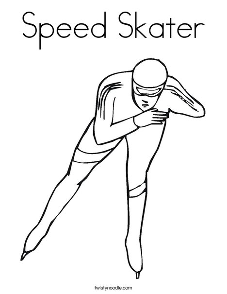 Skater Coloring Page
