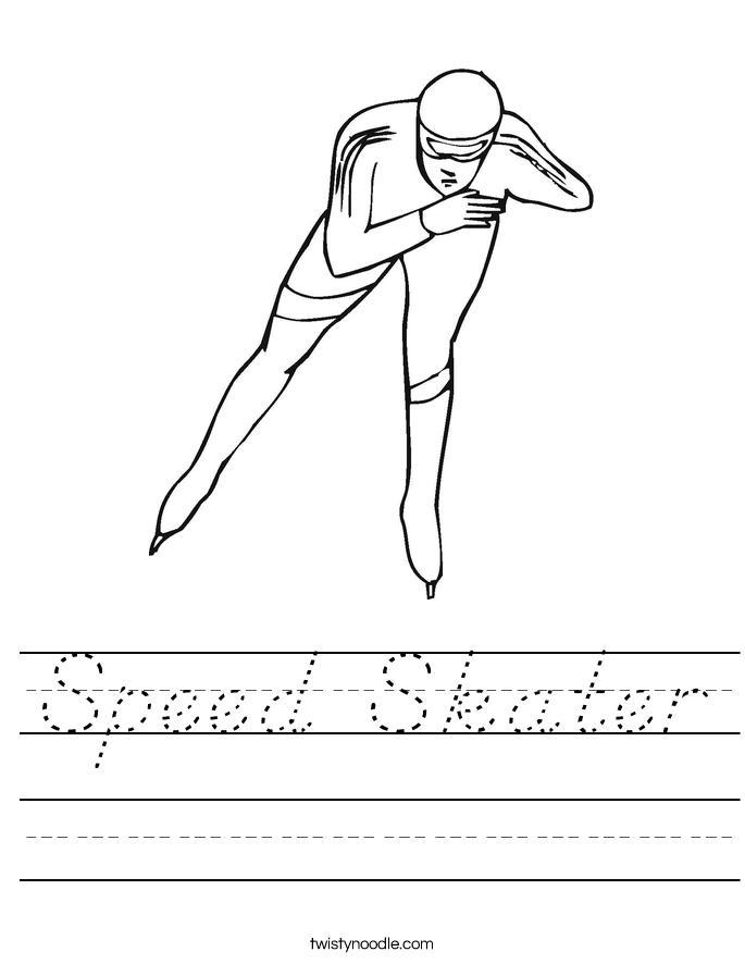 Speed Skater Worksheet