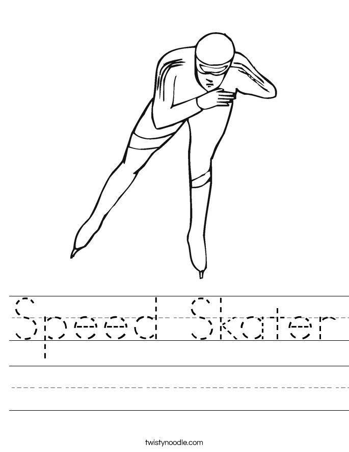 Speed Skater Worksheet