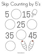 Skip Counting by 5's Coloring Page