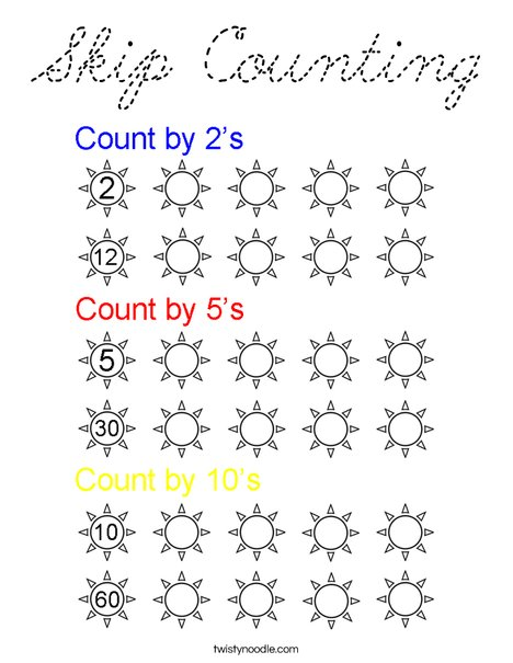 Skip Counting Coloring Page