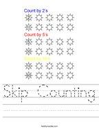 Skip Counting Handwriting Sheet