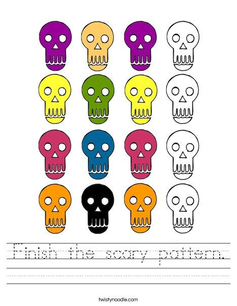 Skull Pattern Worksheet