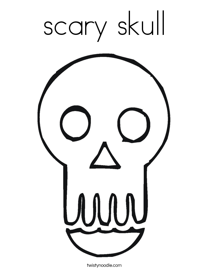 Evil Skull Coloring Pages Scary skull coloring page