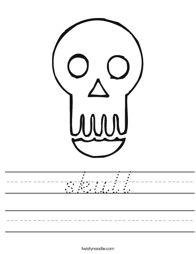 skull Worksheet