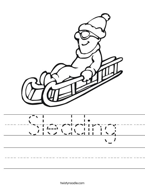 Sledding Worksheet