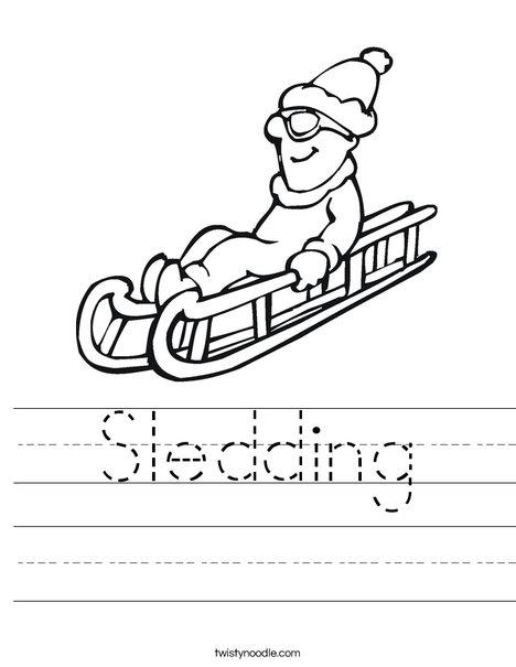 Sledding Worksheet