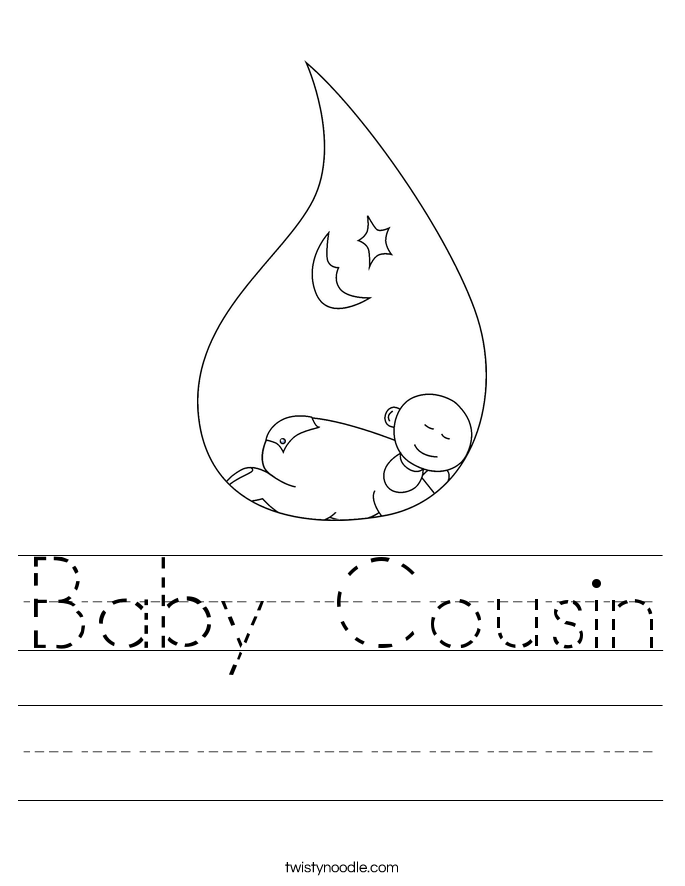 Baby Cousin Worksheet