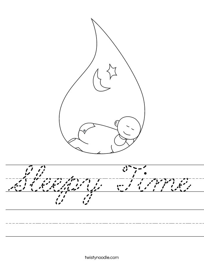 Sleepy Time Worksheet