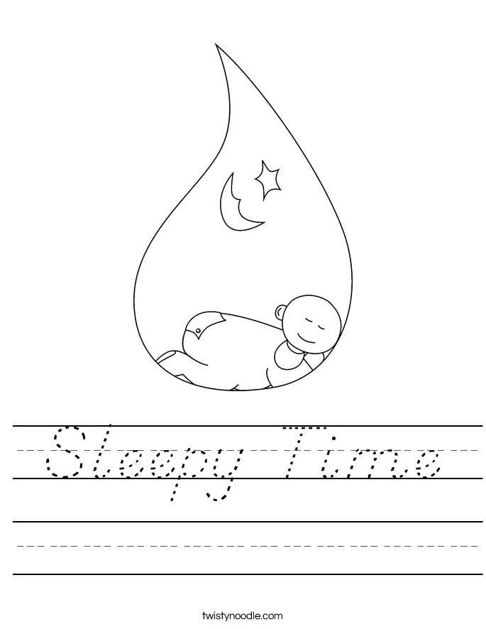 Sleepy Time Worksheet