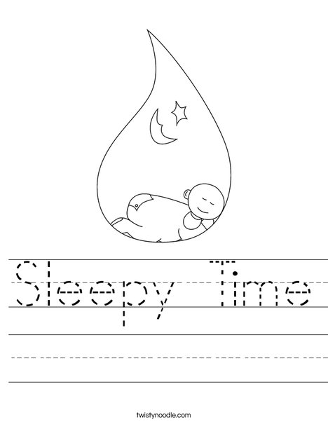 Sleeping Baby Worksheet
