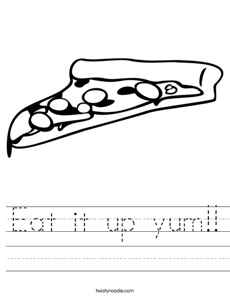 Slice of Pizza Worksheet