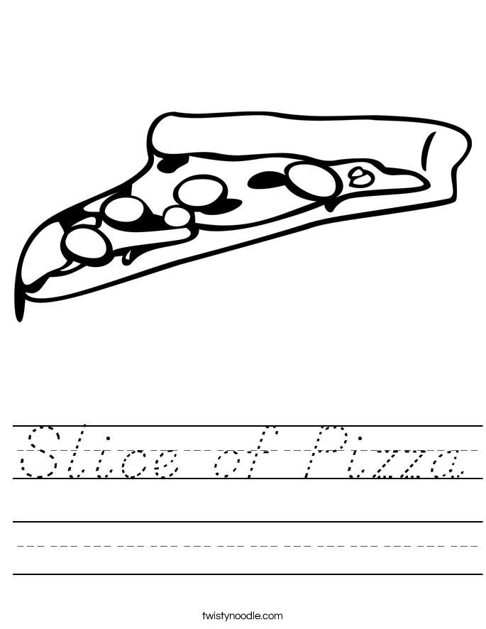 Slice of Pizza Worksheet